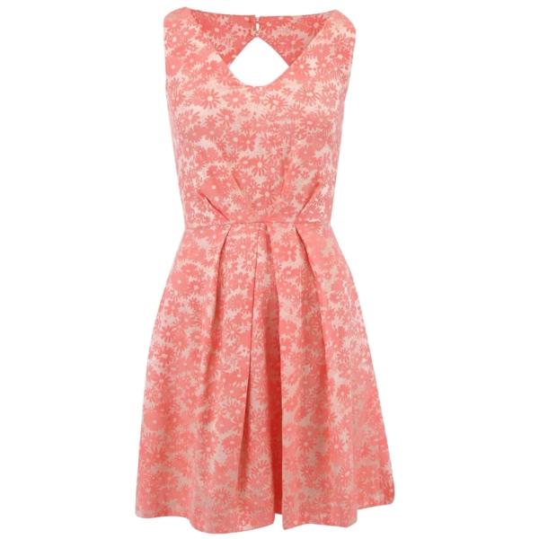 meruňkové květované šaty ♥