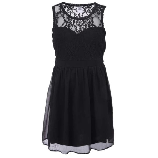 černé šaty s krajkou ♥