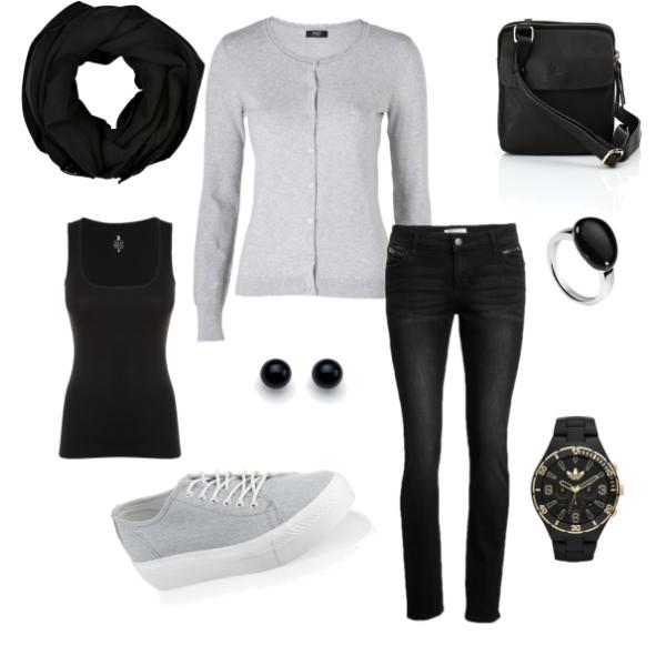 Černo-šedá