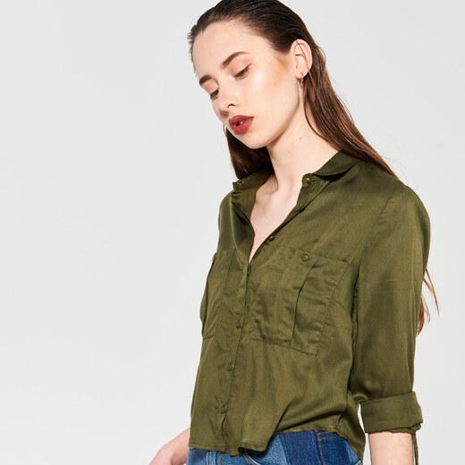 cac75d4029 Sinsay - Krátka košeľa - Zelená - Glami.sk