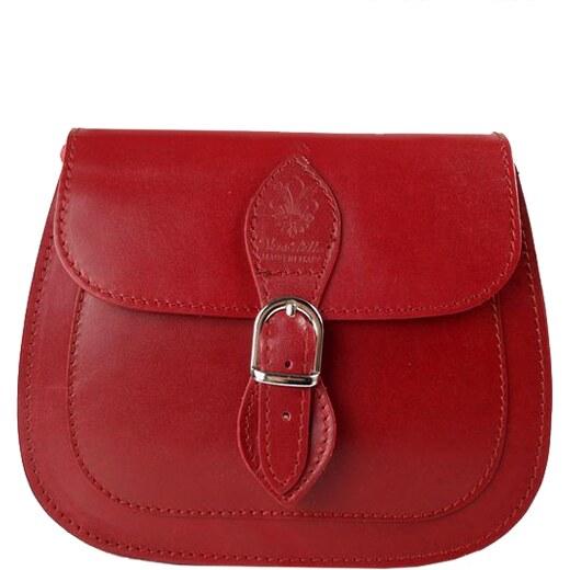 Kožená kabelka Vera Pelle L155C červená - Glami.cz c2b73c475ef