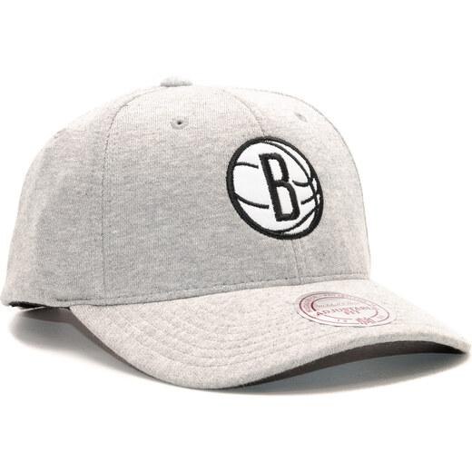 huge discount c321c c8903 Kšiltovka Mitchell   Ness Sweat Brooklyn Nets Grey Snapback - Glami.cz