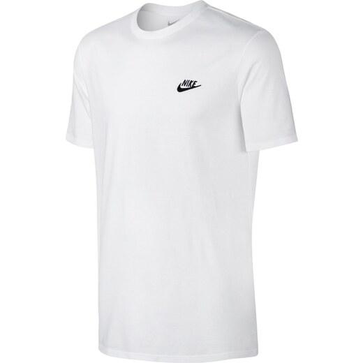 Pánské tričko Nike M NSW TEE CLUB EMBRD FTRA WHITE BLACK - Glami.cz 95c8d6ad71