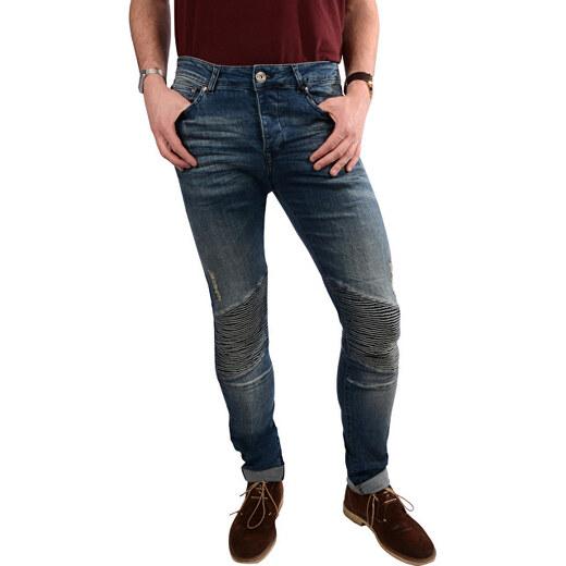 c16498294eb Cars Jeans Pánské modré kalhoty Easybiker Vintage STW 7942808.34 - Glami.cz