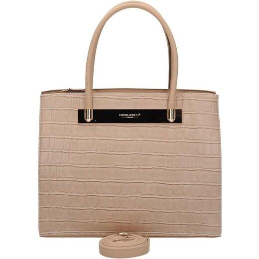 7ec4a59319 David Jones Zaujímavo vzorovaná béžová kabelka v elegantnom dizajne -  Glami.sk