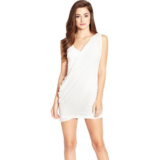 Guess Dámské šaty Raashida Draped Dress White - Glami.cz 00fb52e448