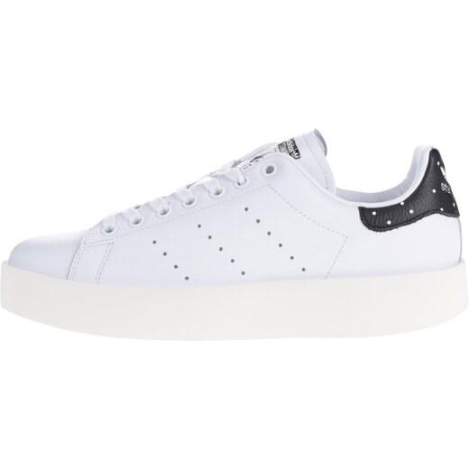 36792240e4 Biele dámske kožené tenisky na platforme adidas Originals Stan Smith -  Glami.sk