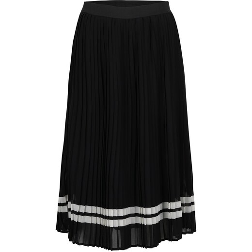 eb5b147ae384 Černá plisovaná midi sukně s bílými pruhy ONLY Lea - Glami.cz