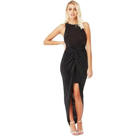 LITTLE MISTRESS Lurexové šaty s twist uzlem - Glami.cz 076d351eca