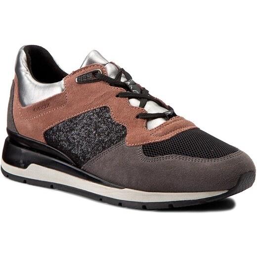 Sneakersy GEOX - D Shahira A D44N1A 022EW CA89F Old Rose Dk Grey - Glami.cz 03826ce03e