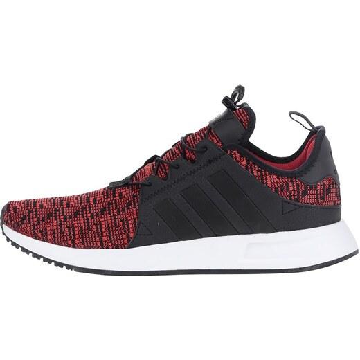 Čierno-červené melírované pánske tenisky adidas Originals X  PLR - Glami.sk d8c94b19044
