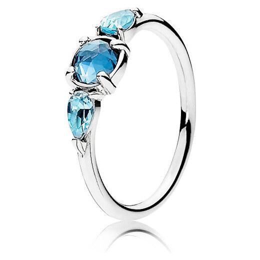 Pandora Prsten s ledově modrými krystaly 191016NMB - Glami.cz 29694cda51c