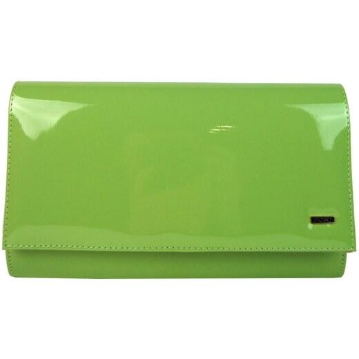 c4ac00ed71 Grosso Luxusní zelená lakovaná dámská listová kabelka   psaní SP100 -  Glami.cz