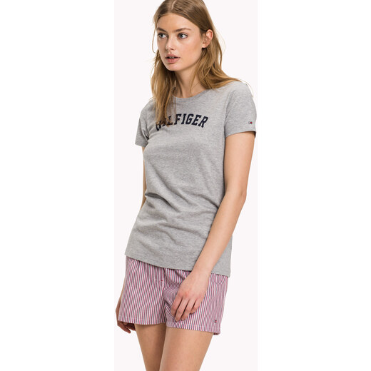 Tommy Hilfiger sivé tričko Tee Print - Glami.sk 1b89a368f6e