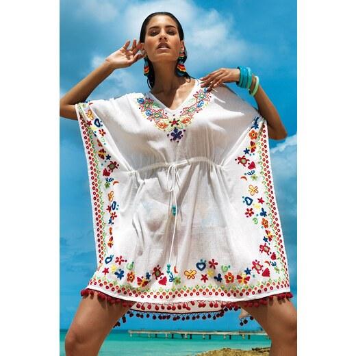 50bbebe1e960 Dámske letné plážové šaty Sara z kolekcie Vacanze ecru - Glami.sk