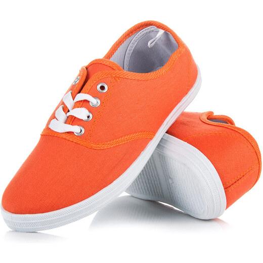 ecafdc638808b NEW AGE Pohodlné oranžové tenisky na jar i leto - Glami.sk
