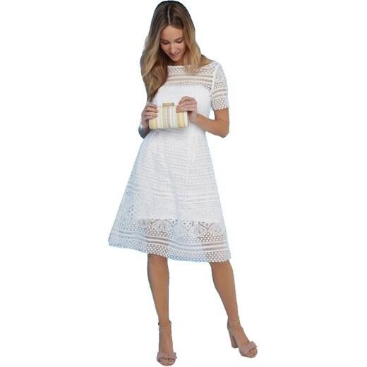 LITTLE MISTRESS Sněhově bílé vyšívané šaty - Glami.cz 7bb5a1ad15