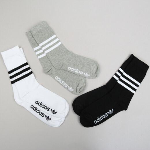 adidas Thin Crew Sock bílé   černé   melange šedé - Glami.cz 4fa0a29995