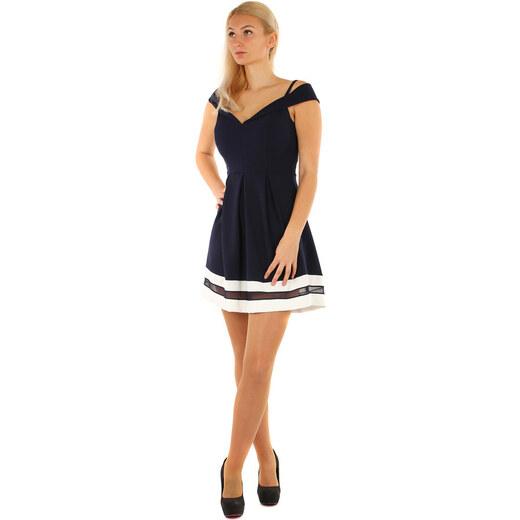 Glara Krátke plesové šaty s kontrastným lemom - Glami.sk b9eac04fbba