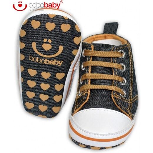 Capačky botičky BOBO BABY - Tenisky jeans - Hvězdička - Glami.cz abfe33154a