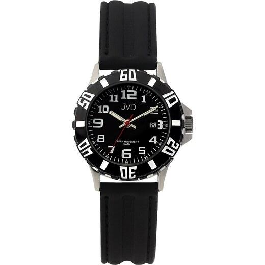 Černé chlapecké vodoodolné dětské náramkové hodinky JVD J7176.1 - Glami.cz 7b6b72d03c