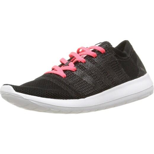 watch ff4dd d0ce3 adidas Damen Element Refine Tricot Laufschuhe, Noir Core Black/Flash Red,  42 EU
