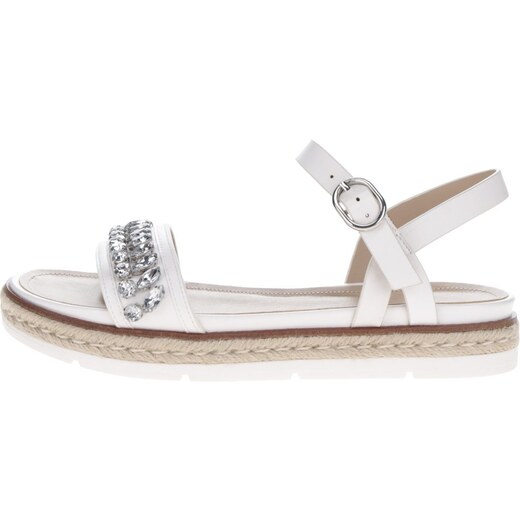 ac294964fbdd Biele dámske sandále s ozdobnými kamienkami ALDO Kelvyna - Glami.sk
