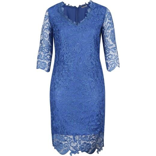 1ea51cae436a Modré plus size čipkované šaty Miss Grey Arella - Glami.sk