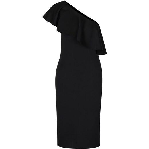 8ad4d8dcb2c3 Čierne puzdrové šaty na jedno rameno s volánom Dorothy Perkins Tall -  Glami.sk