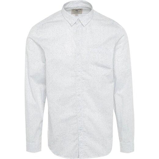 4fefee04790f Biela pánska vzorovaná košeľa s vreckom Garcia Jeans - Glami.sk