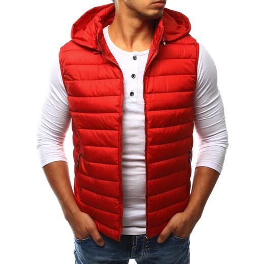 Pánska červená prešívaná vesta s kapucňou (tx1809) - Glami.sk c0aca0f7e48