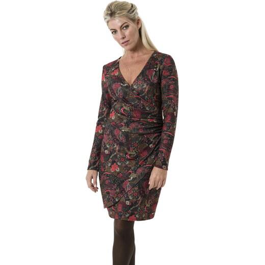 7841c5b0386d Smash AVELINA krátké šaty tmavě červené se vzorem - Glami.cz