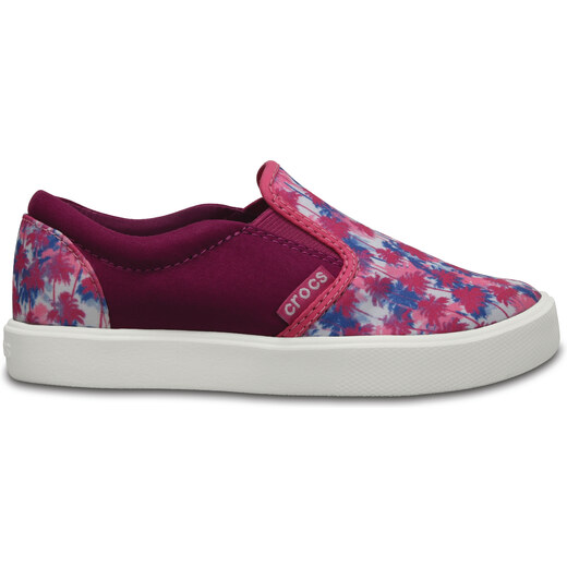 Dětské slip on Crocs CitiLane Novelty Slip-on K - Pink Palm C10 růžová -  27 40d5141230e