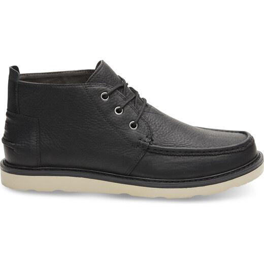 TOMS CHUKKA-Black Pull Up Leather MEN 11 44 - vel.44 144e25dcb1