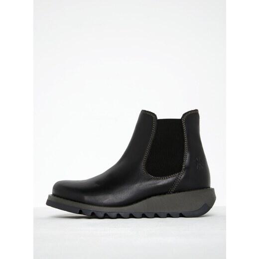 Černé dámské kožené chelsea boty FLY London - Glami.cz 9ceec51045