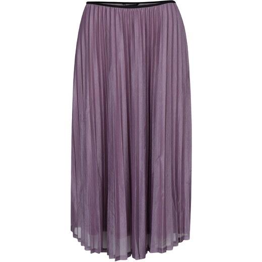 a4299cd052c Světle fialová plisovaná sukně VERO MODA Glitzy - Glami.cz