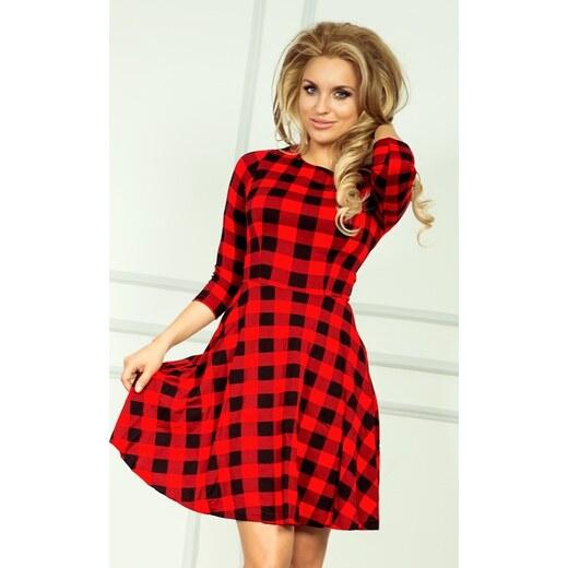 054944d83e88 NUMOCO Kockované červeno-čierne šaty 49-2 - Glami.sk