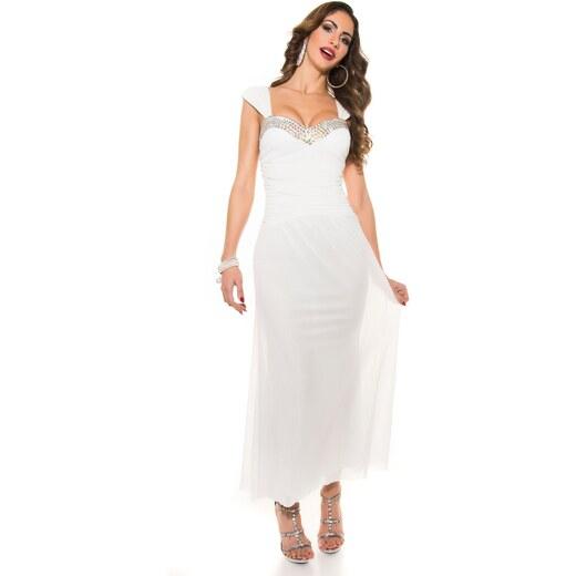 Strikingstyle Večerné šaty Koucla   biele - Glami.sk 86b3201e502