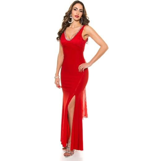 Strikingstyle Spoločenské šaty s čipkou a mašľou   červené - Glami.sk b9963696aa8