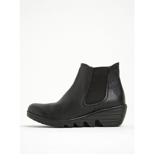 141821233e08 Čierne dámske kožené chelsea topánky na platforme FLY London - Glami.sk