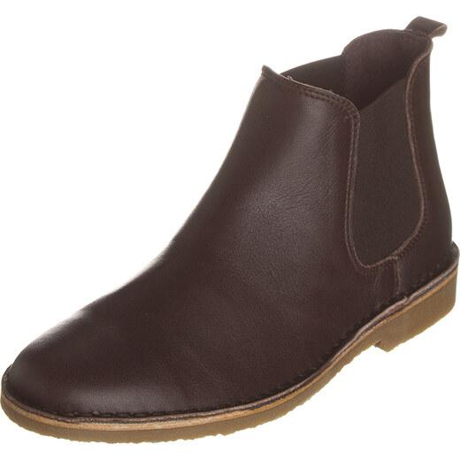 2b0f5aff8925b9 Kmins Leder-Chelsea-Boots in Braun