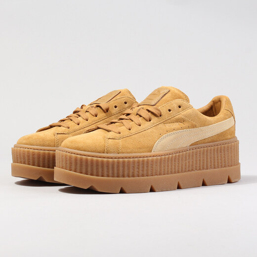 Puma Cleated Creeper Suede Wn s golden brown - lark - Glami.cz 8d5967b1ac5