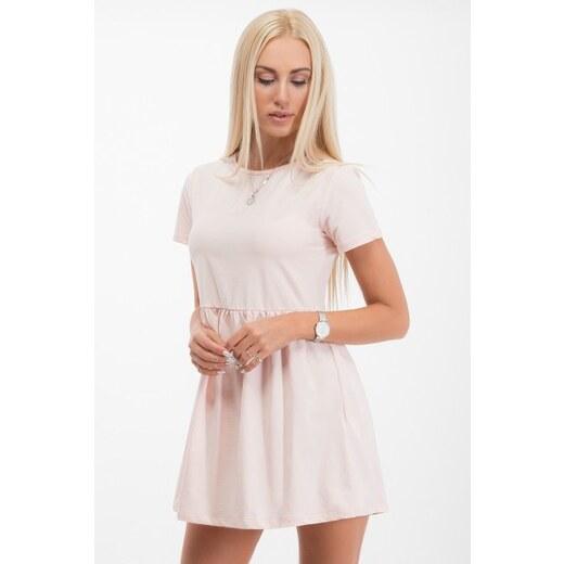 b7eeefaca7d5 Fasardi Ružové šaty s krátkym rukávom a áčkovou sukňou - Glami.sk