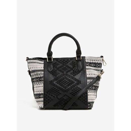 Černá vzorovaná kabelka s pouzdrem 2v1 Desigual Florida Lila - Glami.cz 96b6fd44bfb