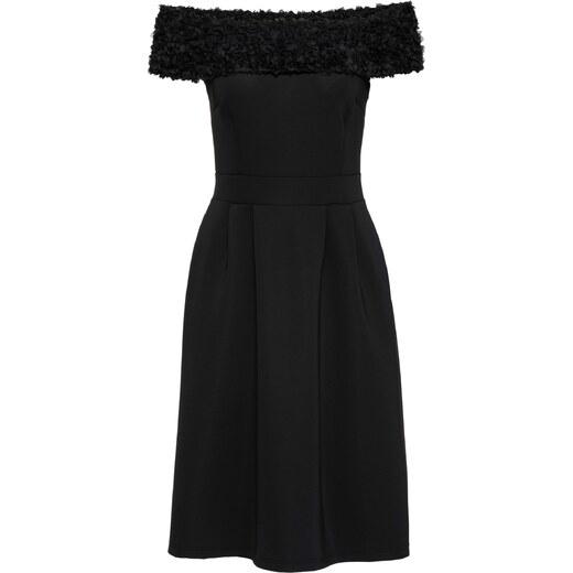 BODYFLIRT boutique Bonprix - robe d été Robe noir manches courtes pour femme  - Glami.fr c2a4ad507c17