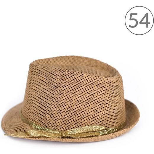 6fb48589003 Art of Polo Trilby klobouk se zlatou stužkou 54cm - Glami.cz