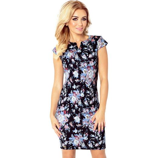 460b1e7688f5 NUMOCO Elegantné farebné šaty s kvetmi 132-6 - Glami.sk