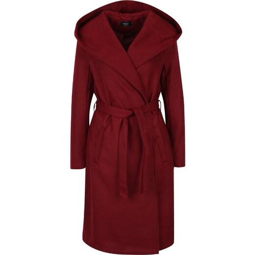dcd3401781 Vínový kabát s kapucňou ONLY Phoebe - Glami.sk