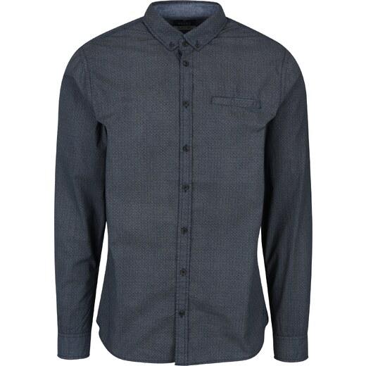 756c731d1cf Tmavě modrá vzorovaná slim fit košile Blend - Glami.cz