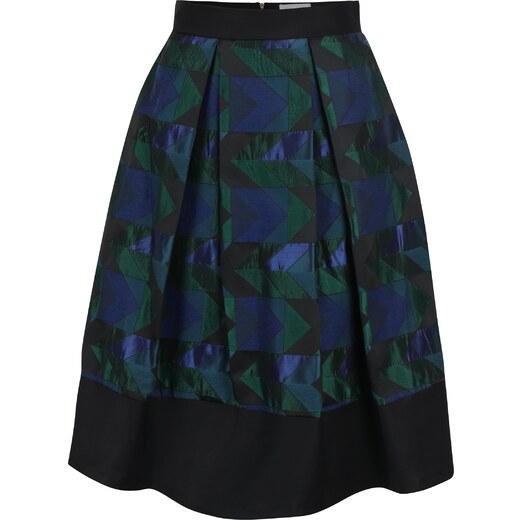 ab19e6cebb54 Zeleno-čierna vzorovaná áčková sukňa Closet - Glami.sk